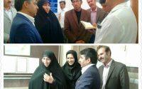 بازدید سرکارخانم  چنارانى و فرماندار فیروزه از ادارات شهرستان فیروزه