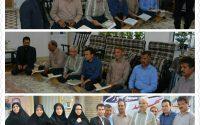 حضور مسئولین دفتر سر کار خانم چنارانی در منزل شهید سید علی منصوری